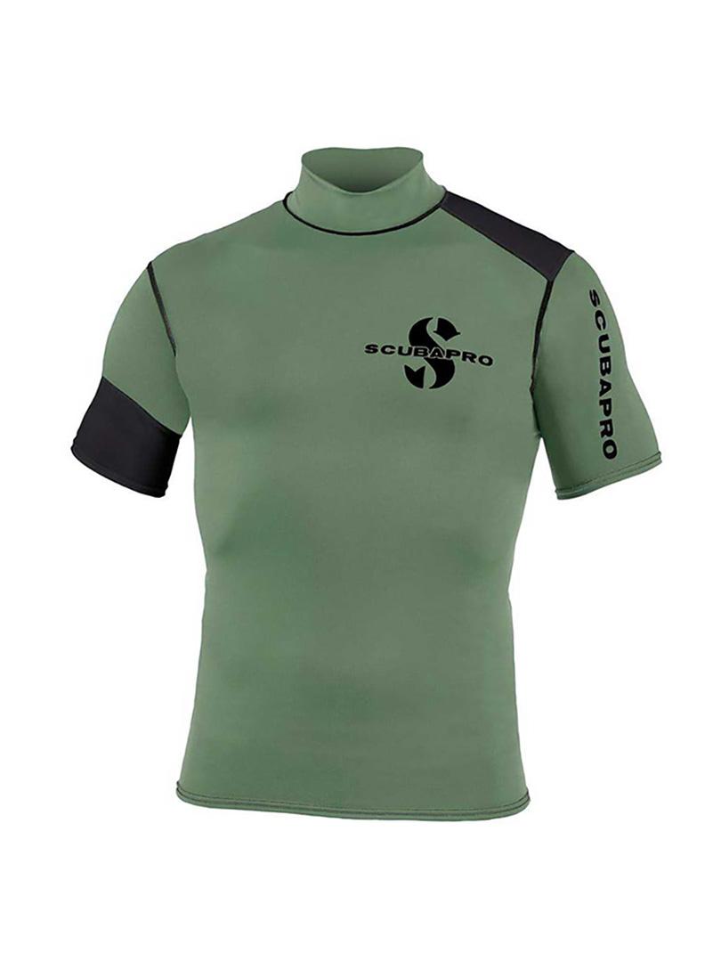 Scubapro - Rövidujjú férfi póló, Army Green