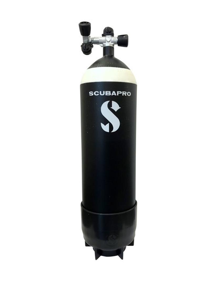 Scubapro - 12 literes palack dupla csappal, rövid