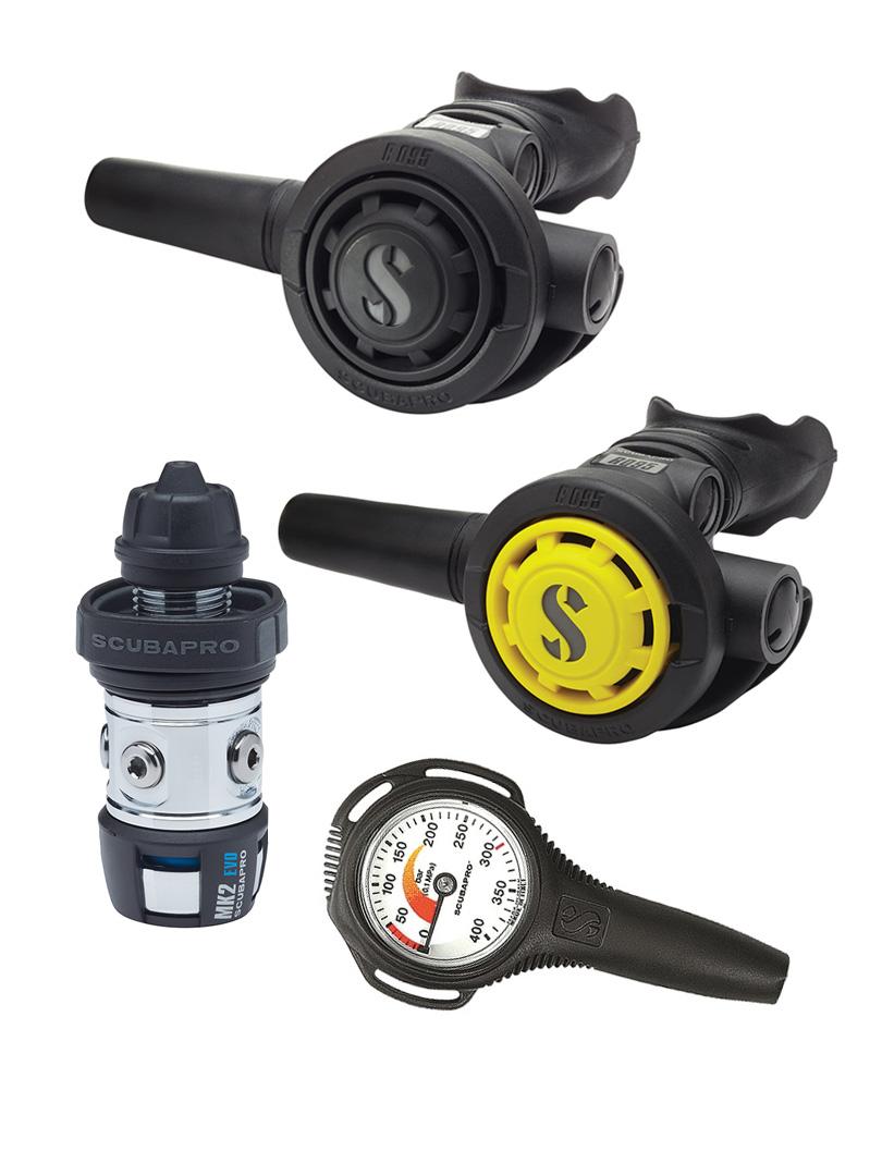 Scubapro - MK2 EVO - R095 - R095 oktopusz - Compact nyomásmérő szett