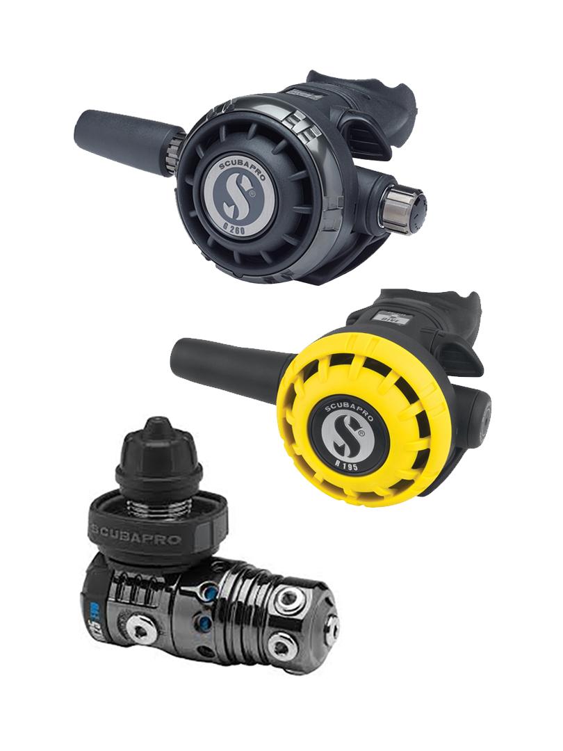 Scubapro - MK25 EVO - Black Tech - G260 Black Tech - R195 oktopusz reduktor